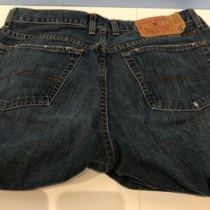 Lucky Brand Lowrise Straight Leg Zipper Fly